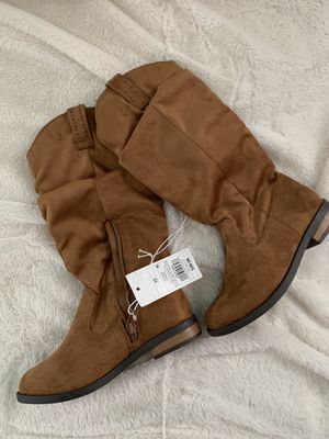 Cat and Jack Girls Tall Scrunch Boots - Size 13 for Sale in Quincy, IL
