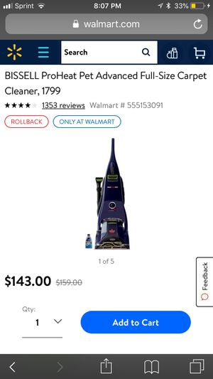Bissell proheat pet carpet cleaner for Sale in Chicago, IL