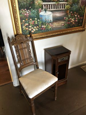 Nice antique chair with cabinet for Sale in Warren, MI