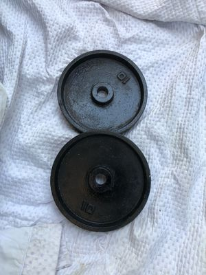 Set of 10 pound weight plates for Sale in Los Angeles, CA