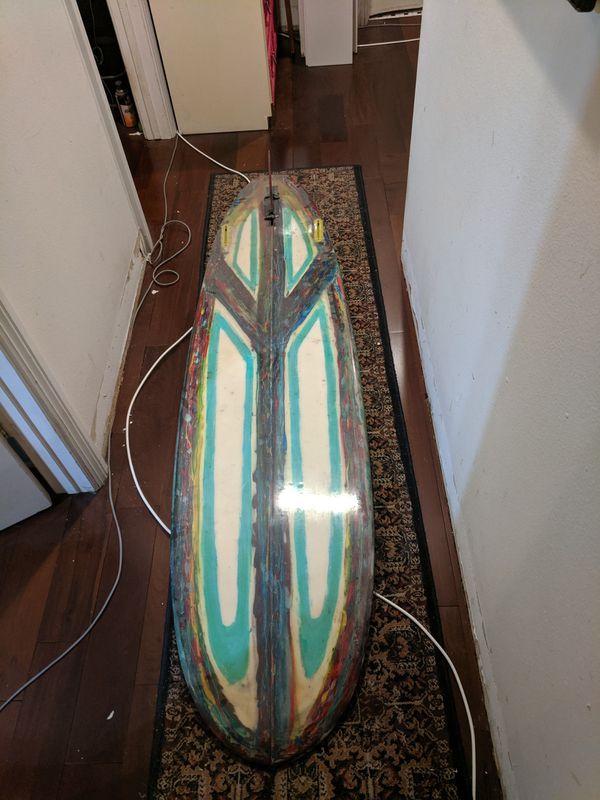 7'6 mini log surfboard