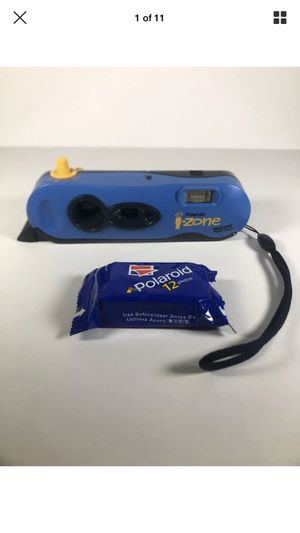 Polaroid iZone Instant Camera Auto Focus Wrist Strap Blue 1 Box of Film D031BC for Sale in Oceanside, NY