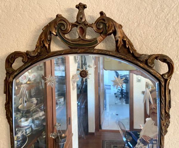 Antique Pair Shield Mirrors