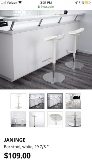 White Bar Stools (used) for Sale in Fremont, CA