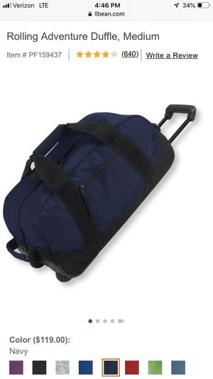 L L Bean rolling duffle bag medium for Sale in St. Petersburg, FL