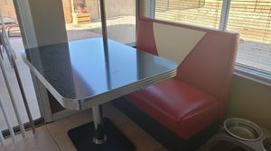 Vitro retro diner table and bench for Sale in Glendale, AZ