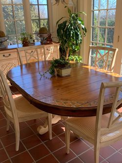 Wooden Dining table & 4 chairs for Sale in Staten Island,  NY