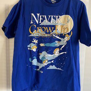 New Disney Peter Pan Never Grow Up Shirt Large for Sale in Sun City, AZ