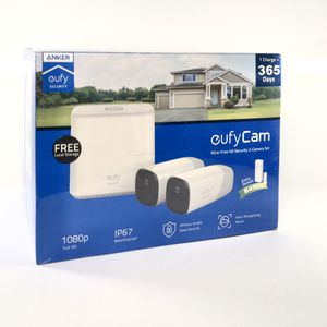 Eufy cam wire-free HD Security system 2 camera set hub and extender for Sale in Modesto, CA
