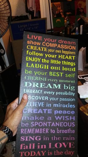 """19.5""""x9.5"""" Inspirational word art canvas for Sale in Mesa, AZ"""