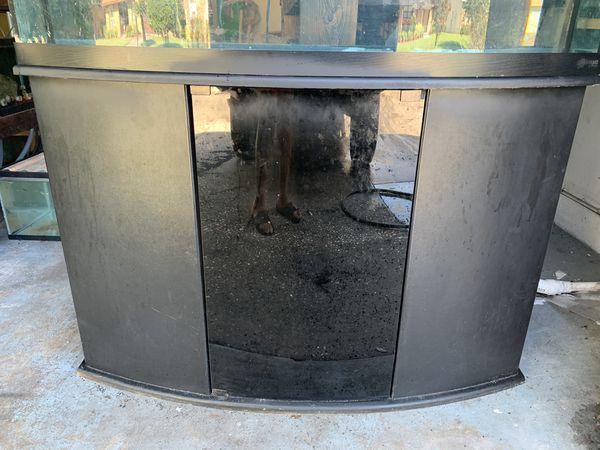 72 gallon Bowfront Fish Tank Aquarium filter light Stand