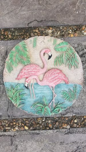 Pink flamingo stepping stone for Sale in Port St. Lucie, FL