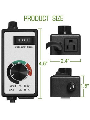 TopoLite Fan Speed Controller for Grow Tent Exhaust Kit & Hydroponic Growing System for Sale in Portland, OR
