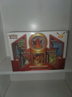 Pokemon card Charizard ex red blue collection with figure booster cards for Sale in Inglewood, CA