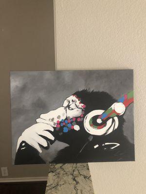 Banksy Acrylic Painting - Wall Art - Canvas for Sale in Carrollton, TX
