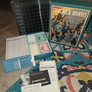 Stocks and Bonds Board Game 3M Bookshelf Games Vintage 1964 Complete for Sale in Rancho Cucamonga, CA
