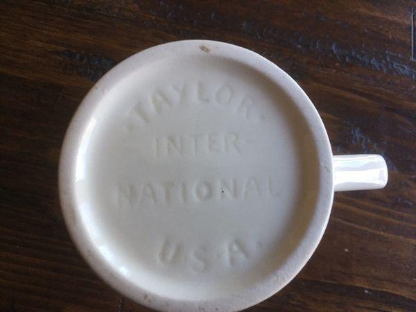 Vintage Taylor International Eagle Mugs