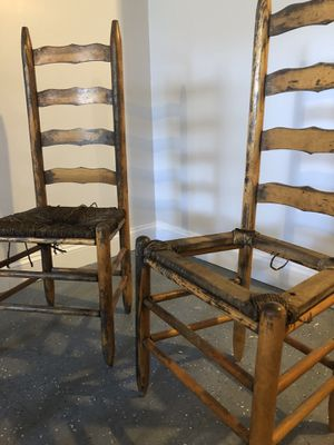 Antique ladder back chairs (2) for Sale in St. Louis, MO
