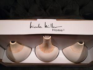 Nicole Miller 3-piece vase set for Sale in McKnight, PA