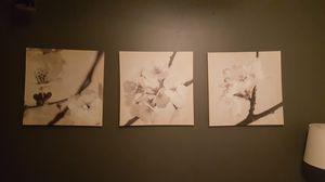 3 floral photo canvas prints for Sale in Washington, DC