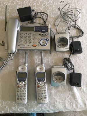 Panasonic answering machine with 3 handsets for Sale in Silver Spring, MD