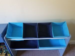 Kids toy holder with canvas compartments for Sale in Pittsburgh, PA
