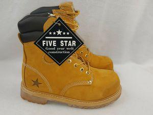 "Five Star ""W833T"" Men's Genuine Leather Work Boots Wide Width Size 6.5 & 11 for Sale in Detroit, MI"