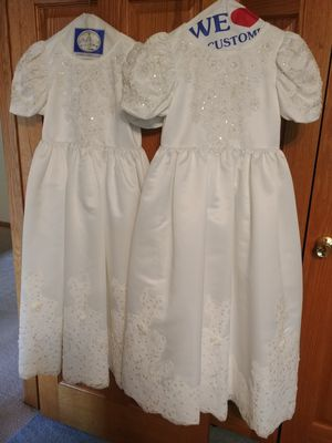Satin Flower Girl dresses. Set of 2 for Sale in Long Grove, IL