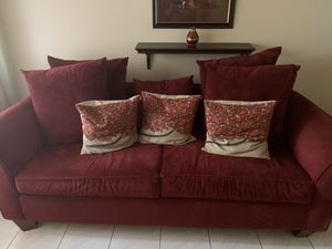 Red couch for Sale in Hialeah, FL