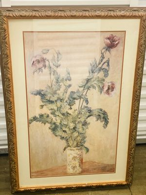 Nice picture vase and flowers for Sale in Fort Worth, TX