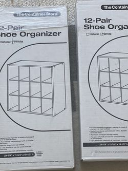 NEW 2 Container store 12-pair Shoe Organizer Shelfs for Sale in Brooklyn,  NY