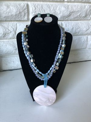 Mother of Pearl and sea glass necklace and earrings for Sale in Wenatchee, WA