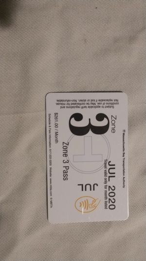 Zone 3 mbta July pass for Sale in Watertown, MA