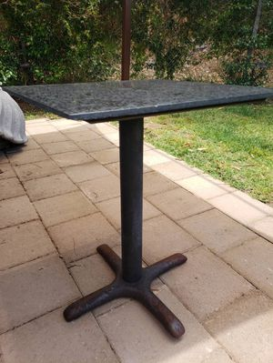 Granite stone black marble table cafe restaurant for Sale in Los Angeles, CA