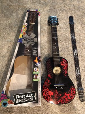 First Act Designer Acoustic Guitar with strap for Sale in Thomaston, CT