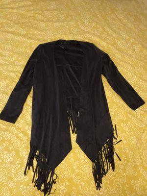Grey Suede Fringe Zara Jacket for Sale in Denver, CO