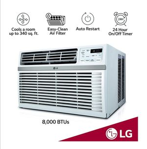 LG LW8016ER 8,000 BTU 115V Window-Mounted Remote Control Air Conditioner, White for Sale in San Diego, CA