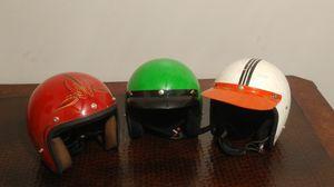 Vintage motorcycle helmets lot of 3 Harley-Davidson Bobber Chopper Shovelhead Panhead knucklehead for Sale in Phoenix, AZ