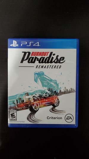 BURNOUT Paradise REMASTERD for PS4 for Sale in Chicago, IL
