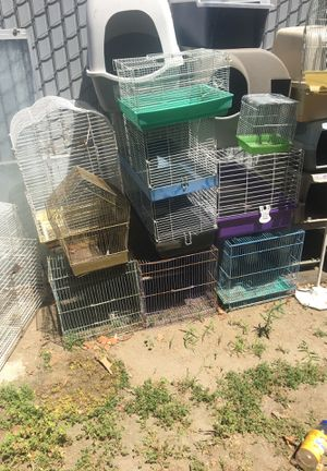 Pet cages dog kennels hamster houses bird cages for Sale in Fresno, CA