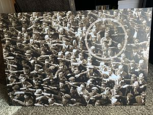 Canvas photo of German man protesting at nazi rally for Sale in Grand Prairie, TX