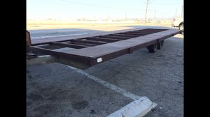 Custom heavy duty lowboy flatbed trailer pontoon boat mover for Sale in Fresno, CA