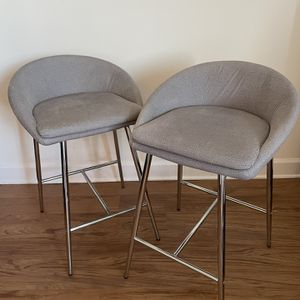 TWO GRAY BAR STOOLS for Sale in Arlington, VA