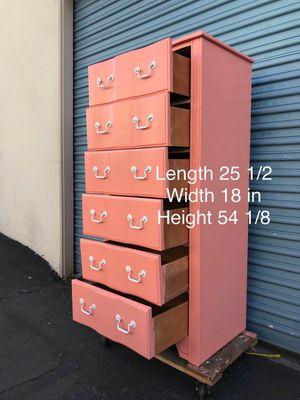 Pink 6 drawer dresser for Sale in Lynwood, CA