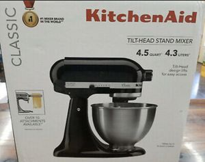 Kitchen aid mixer (black) for Sale in Long Beach, CA