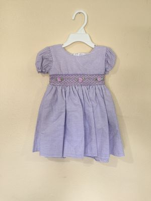 New Baby Girls Lilac Cotton Dress Size 12-18 Months for Sale in Hacienda Heights, CA