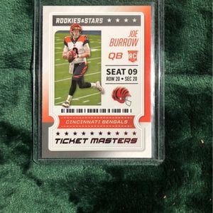 Joe Burrow Ticket Masters Card for Sale in Mokena, IL