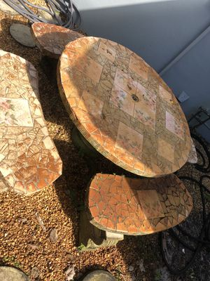 Concert/ tile patio table for Sale in Hollywood, FL