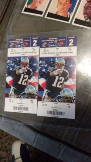 2002 unused pats game tickets. for Sale in Fall River, MA