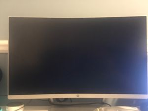Hp 27 curved Monitor silver for Sale in Gaithersburg, MD